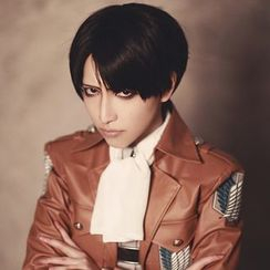 Macoss - Attack on Titan - Rivaille Ackerman Cosplay Wig
