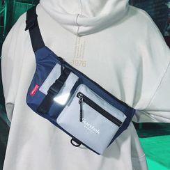 EAVALURE - Lightweight Color Block Belt Bag