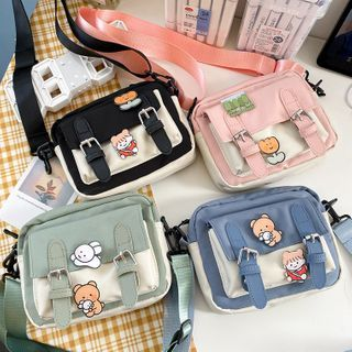 OUCHA(ウーチャ) - Two-Tone Lightweight Crossbody Bag