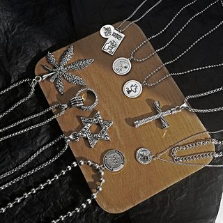 YUGGI - Alloy Rhinestone Pendant Necklace (various designs)