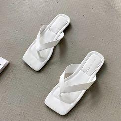 Nikao - Square-Toe Flip-Flops