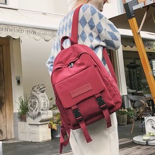 Crimson Tone - Nylon Zip Backpack