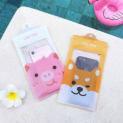 KIITOS - Animal Print Transparent Waterproof Mobile Pouch