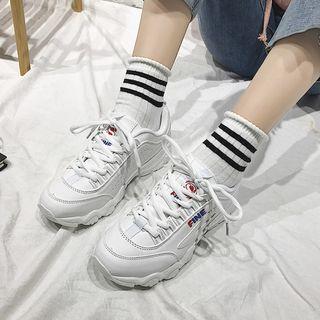 Futari - Appliqued Platform Sneakers