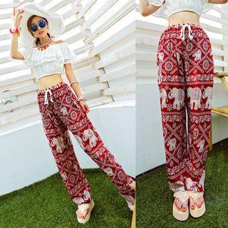 Oaksa - Printed Wide-leg Pants