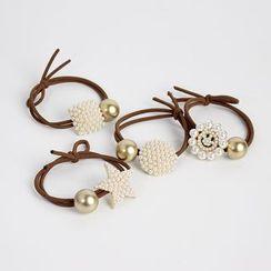 Sesori - Beaded Charm Ball Hair Tie
