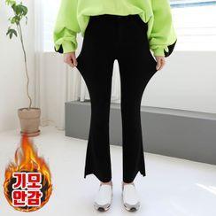 Seoul Fashion - Cutout-Hem Boot-Cut Pants