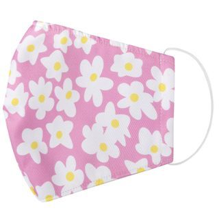 Miumi - Handmade Water-Repellent Fabric Mask Cover (Flower Print)(Adult)