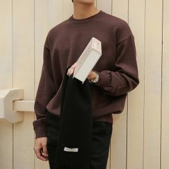 Seoul Homme(ソウルオム) - Round-Neck Boxy Knit Top in 13 colors