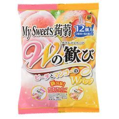 Three O'Clock - Shimonita My Sweets Konnyaku Jelly Peach & Mango Flavor