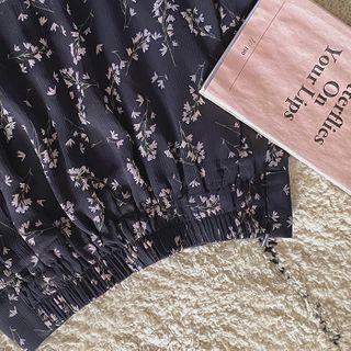 CHERRYKOKO - Botanical Chiffon Maxi Skirt