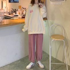 Shinobu - 印字卫衣 / 灯芯绒哈伦裤