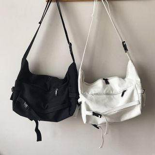 Shimme - Buckled Canvas Crossbody Bag