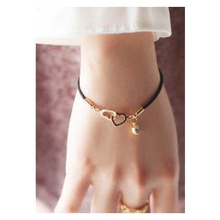 kitsch island - Interlinked Hearts Rhinestone Bracelet