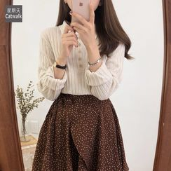 Moon City - Collared Knit Top