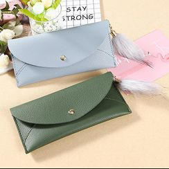 Bonnie Lonny - Fur Charm Faux Leather Long Wallet