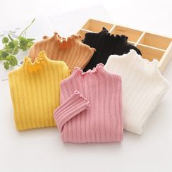 Seashells Kids - Kids Long-Sleeve Mock-Neck Knit Top