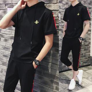 FORSETI(フォレスティ) - Set: Panel Short-Sleeve T-shirt + Sweatpants