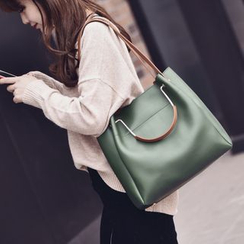 Shimme - Faux-Leather Tote Bag