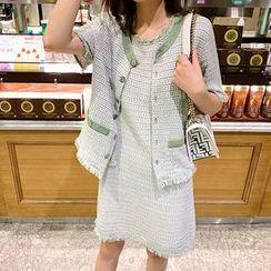 Paila - Short-Sleeve / Sleeveless Shift Dress / Top / A-Line Skirt