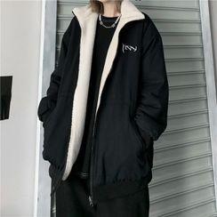 Malnia Home - Reversible Zip-Up Fleece Jacket