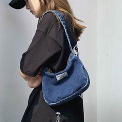 Libra - 牛仔拉链单肩包