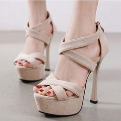 Niuna - 多带厚底高跟凉鞋