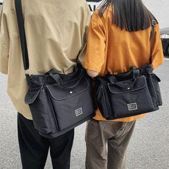 Gokk(ゴック) - Contrast Stitching Nylon Crossbody Bag