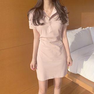 Windcatcher - Short-Sleeve Mini Polo Shirt Dress