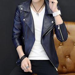 Andrei - Faux Leather Biker Jacket