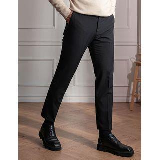 STYLEMAN - Front-Tab Fleece-Lined Dress Pants