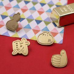 KIITOS - Copper Brooch (various designs)