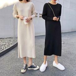 COZA - 羅紋針織連衣中裙