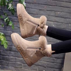 Aneka - 毛毛邊短靴
