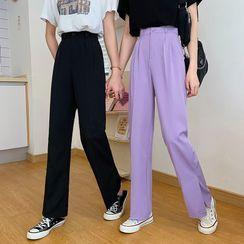 Sisyphi - High-Waist Straight-Cut Dress Pants