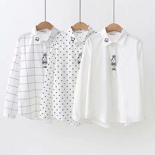 Angel Love - Rabbit & Bow Applique Shirt