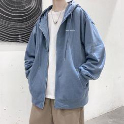 Oakjam - Hood Lettering Zip Jacket