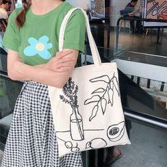 Milha - Printed Canvas Tote Bag
