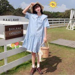 Sisyphi - Short-Sleeve Collared Dress
