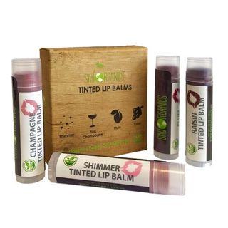 Sky Organics - Tinted Lip Balms, 4 Pack Assorted Colors