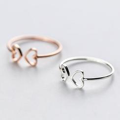 A'ROCH - 925 Sterling Silver Cutout Heart Open Ring
