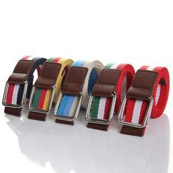 FORBEAR - Striped Canvas Belt