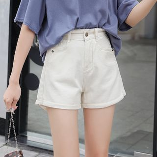 With You - Wide Leg Denim Shorts