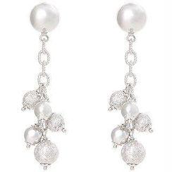 Keleo - 18K White Gold Earrings