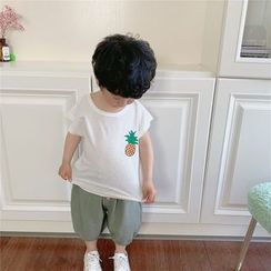 Peperoncino - Kids Short-Sleeve Pineapple Print T-Shirt