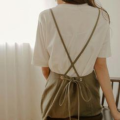 JUSTONE - Flared Long Suspender Skirt
