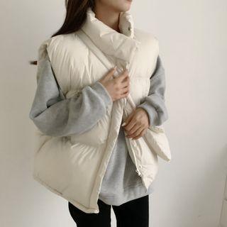 Windcatcher - 無袖純色夾棉大衣