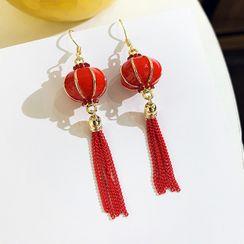 Catalunya - Chinese Lantern Tassel Dangle Earring