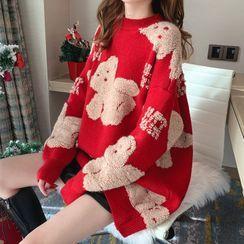 Bolifon - Bear Print Sweater