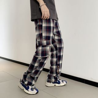 MRCYC - Plaid Straight-Cut Pants